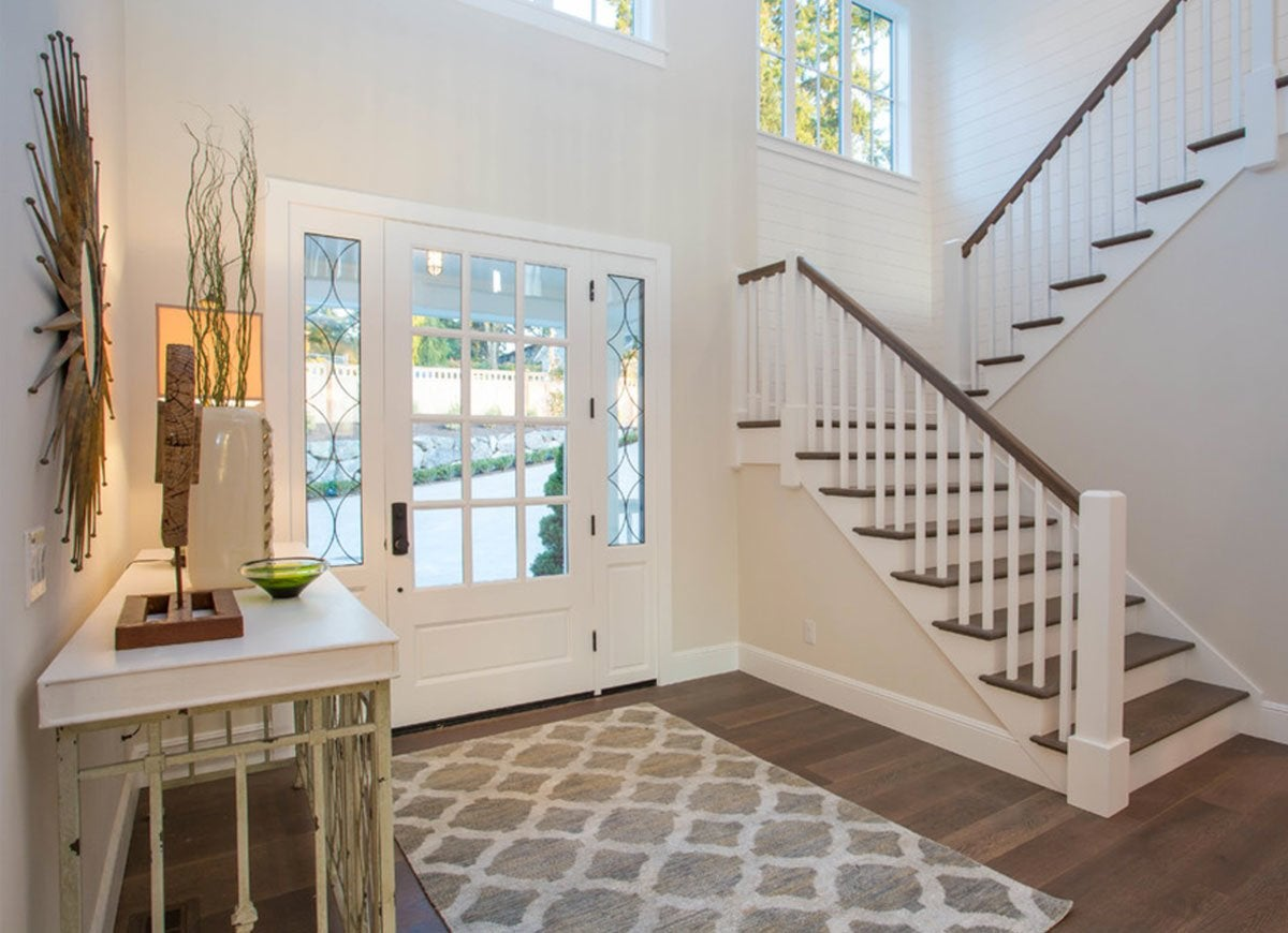 Farmhouse Foyer Rugs : Farmhouse foyer design front entry ideas entryways