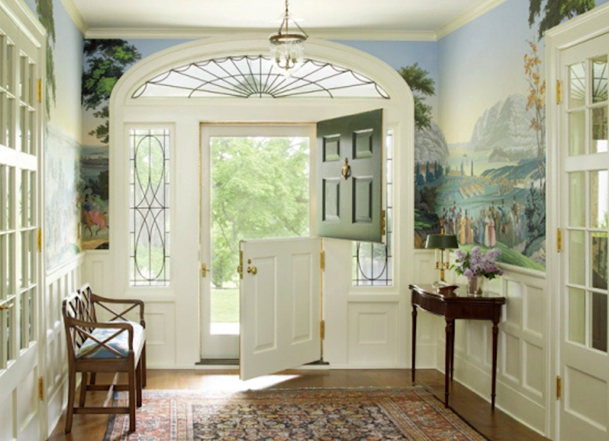 Dutch door entryway