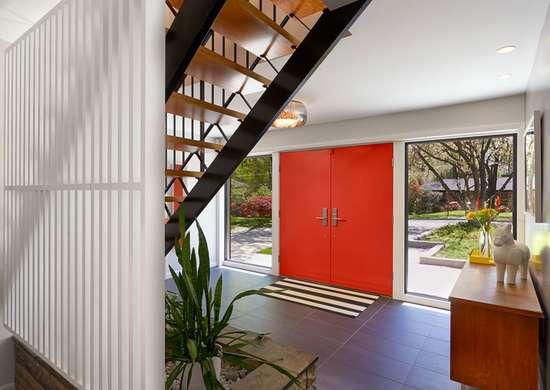 Midcentury modern entryway