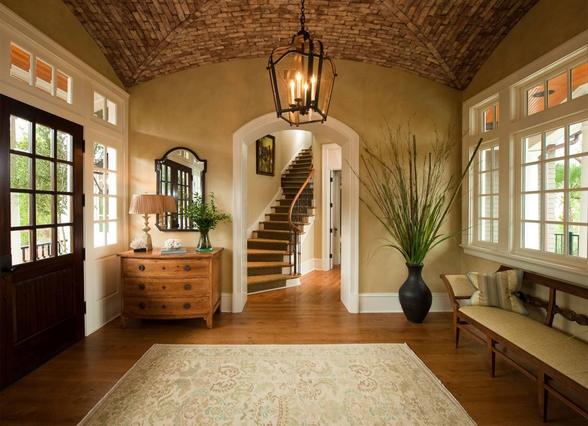 Island Inspired Entryway Front Entry Ideas 18