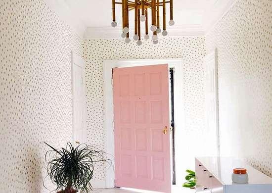 Pink entryway