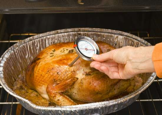 Use cooking thermometer