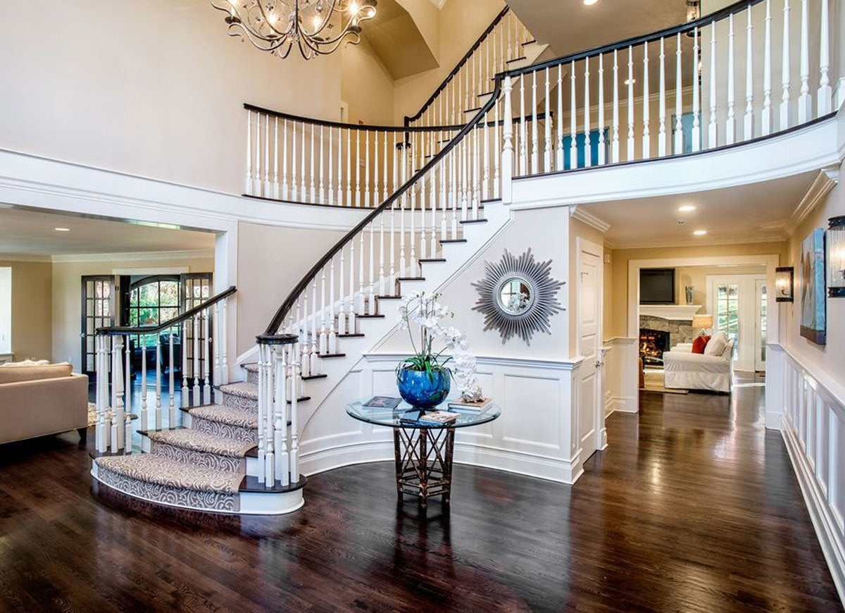 Foyer Grand Lancy : Grand entryway with staircase front entry ideas