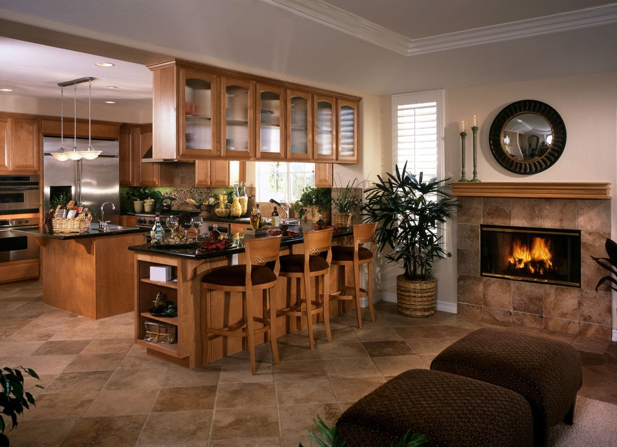 Fireplace kitchen