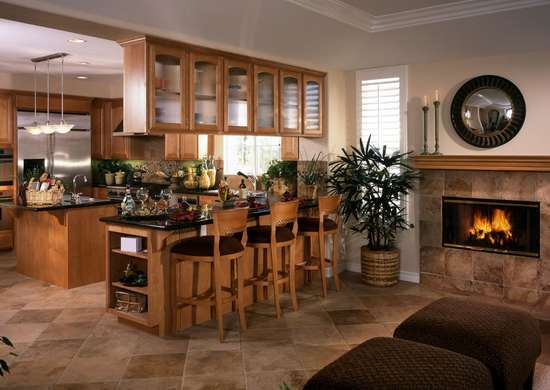 Fireplace-kitchen