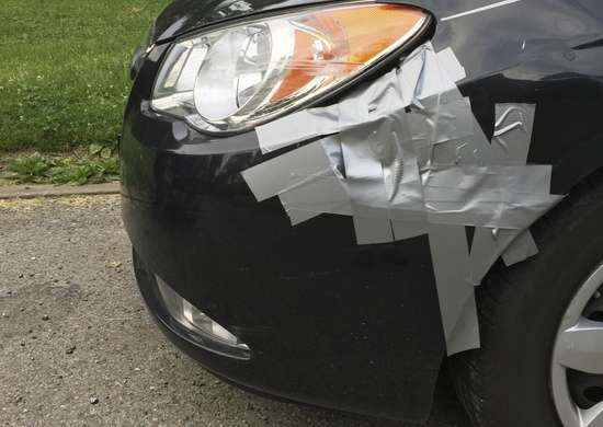 Duct tape for emergency car repairs