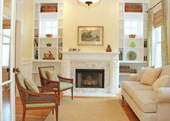 Uncluttered living room