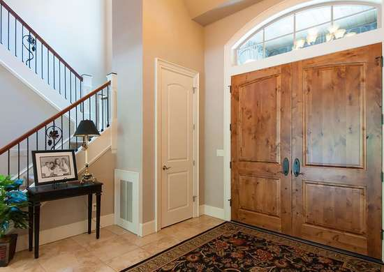 Use Closed Storage in Entryway