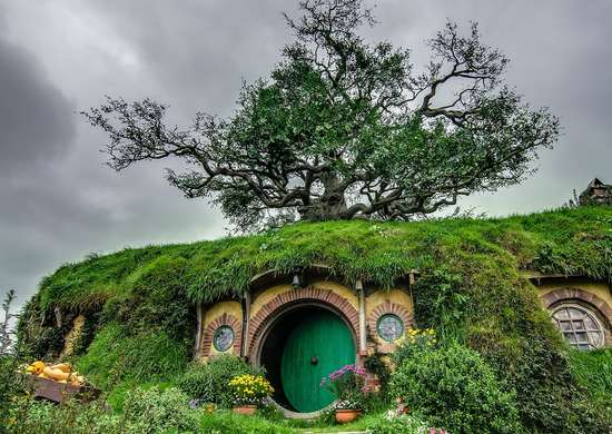 Hobbiton from Lord of the Rings