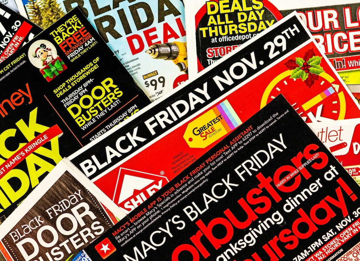 All black friday sales advertised