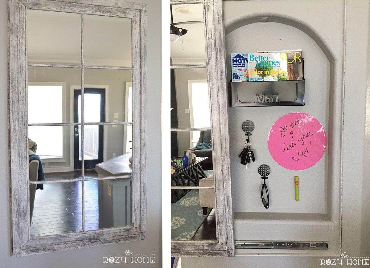 Secret Compartment Behind Mirror