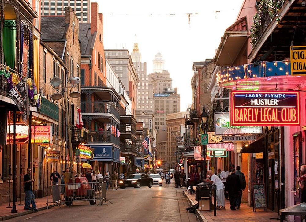 Bourbon street after