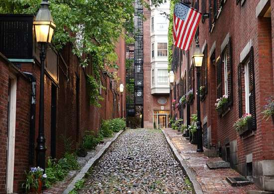 Modern Day Acorn Street - Boston, MA