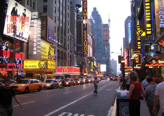 Modern Day Broadway - New York, NY