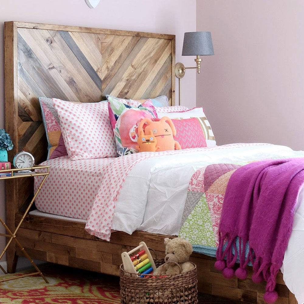 Chevron headboard