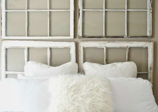 DIY Window Headboard