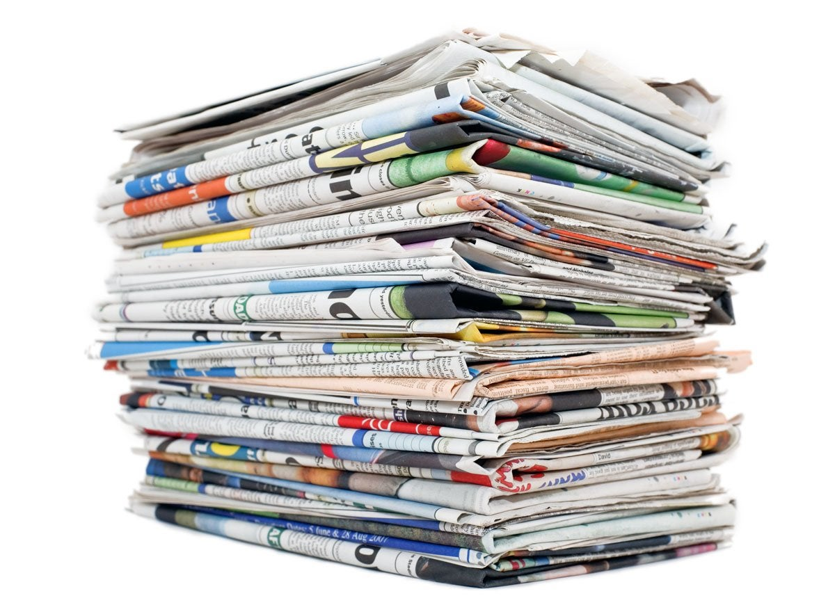 Newspaper-pile