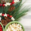 Popcorn Garland on Christmas Tree