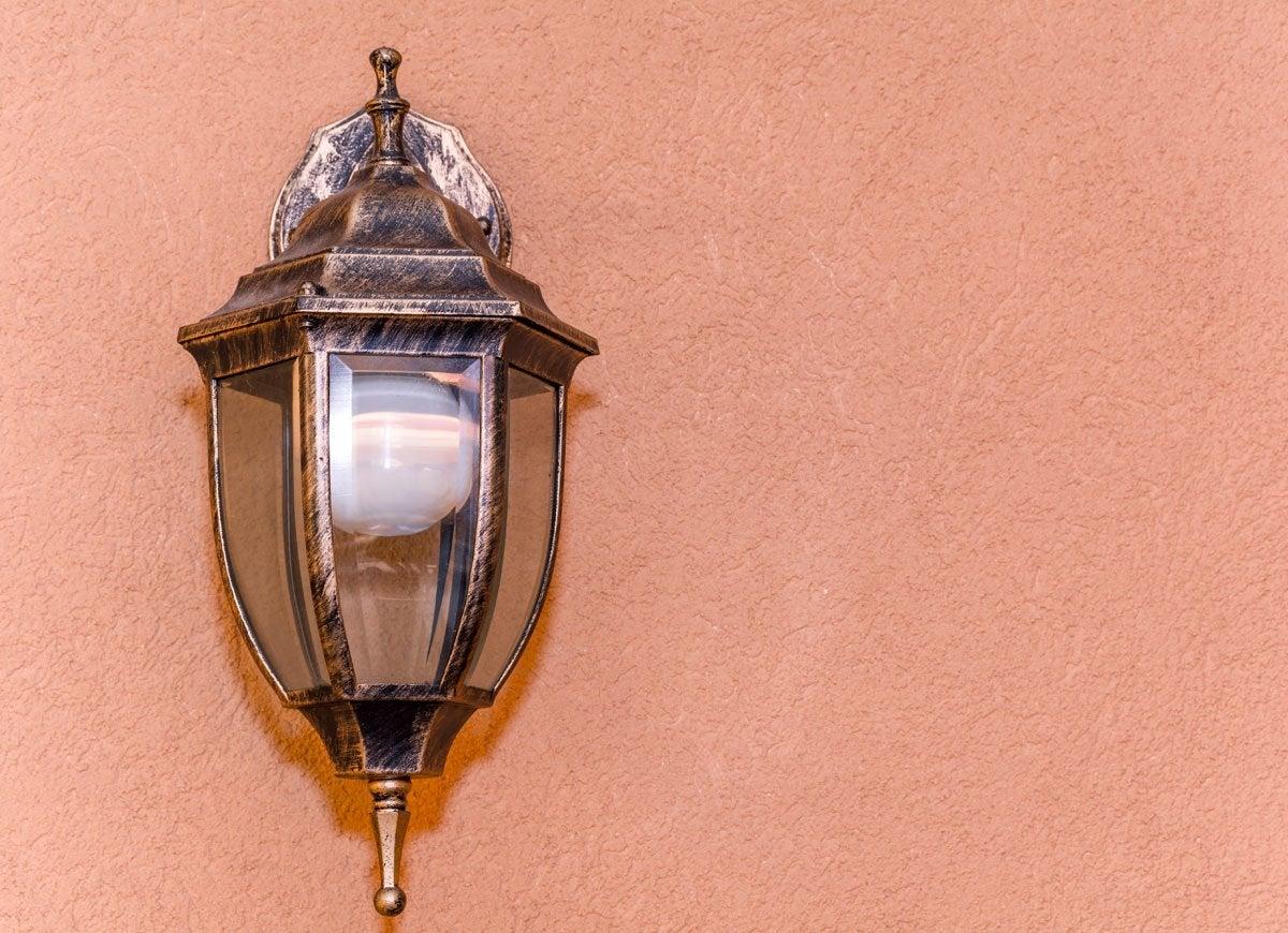 Chapstick lightbulb outside