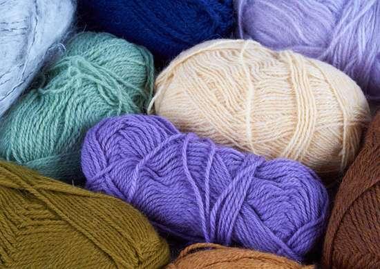 Crock pot dyed yarn