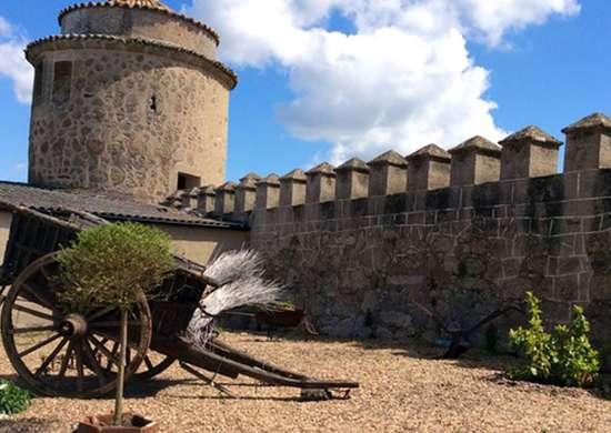 Battlement Castle in Extremadura, Spain