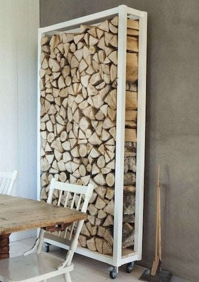 The Clean, White Lines Of This Modern Storage Rack Balance Nicely With The  Rustic Appeal Of The Firewood. Not Only Can You Make One Of These Yourself,  ...