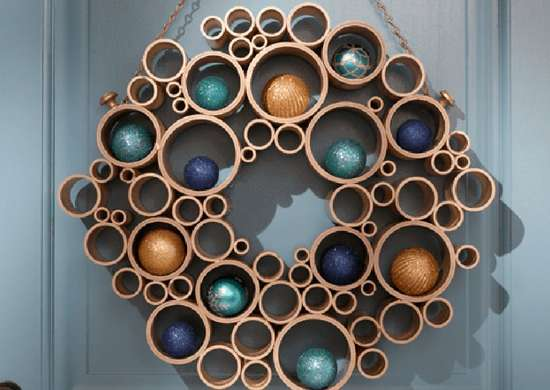 PVC Pipe Christmas Decor