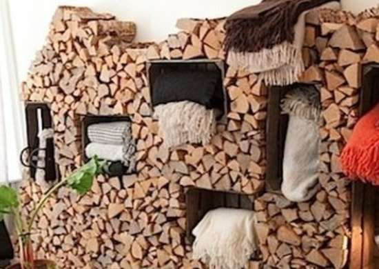 Put your firewood to work! The folks at Studio St. Paul took firewood storage to the next level by burrowing wooden crates into a generous wood pile ... & Firewood Storage Ideas - 12