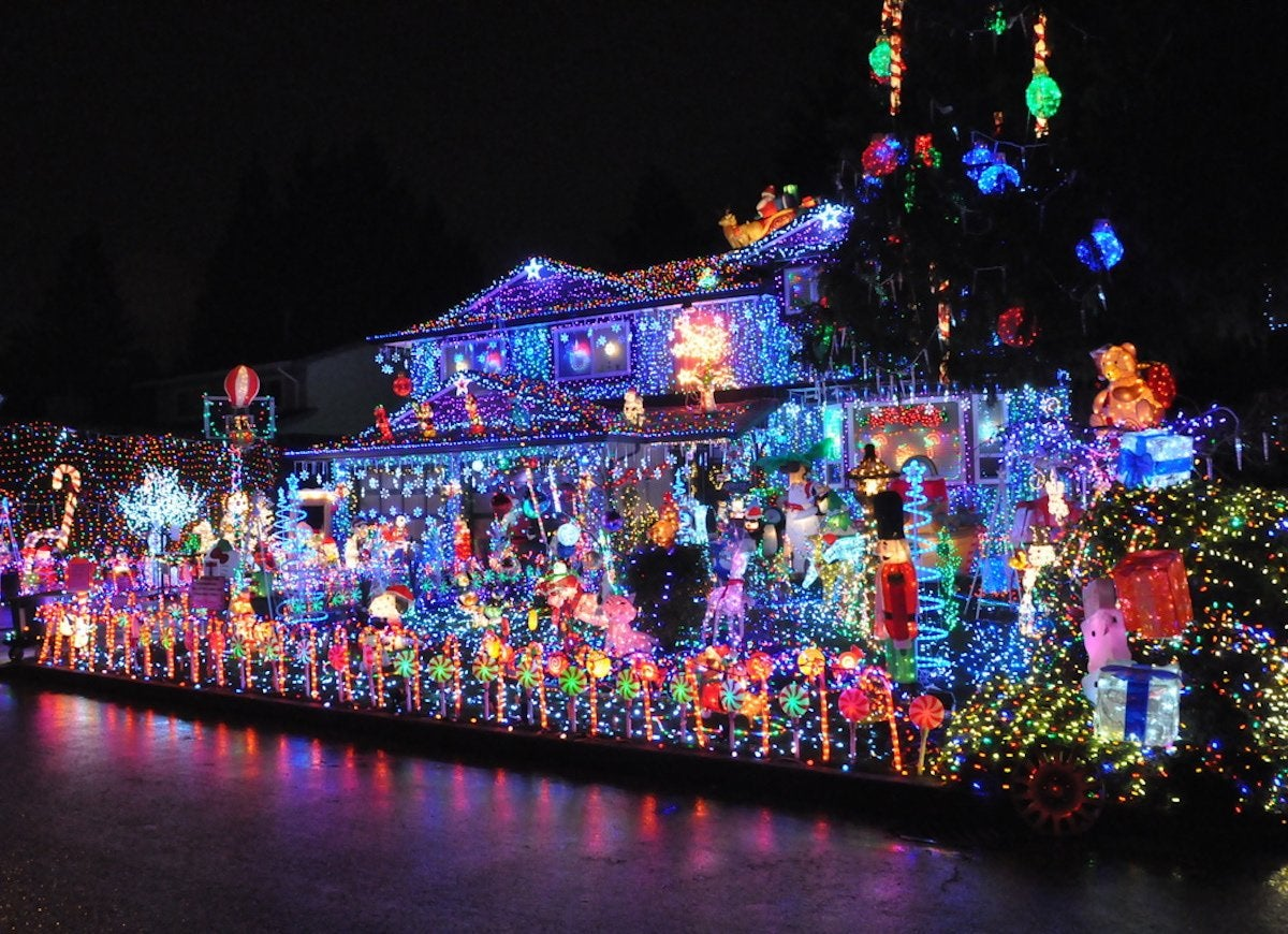 covered in christmas in port coquitlam canada