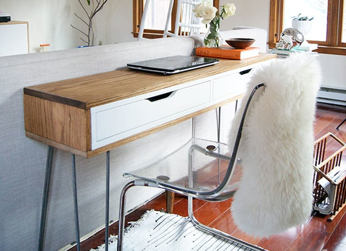Slim desk hack