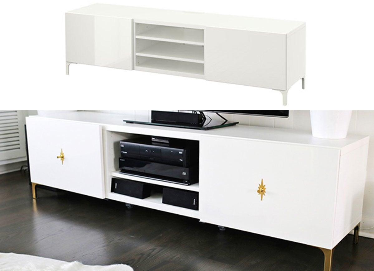 ikea hack tv stand ikea hacks the very best of 2016 bob vila. Black Bedroom Furniture Sets. Home Design Ideas