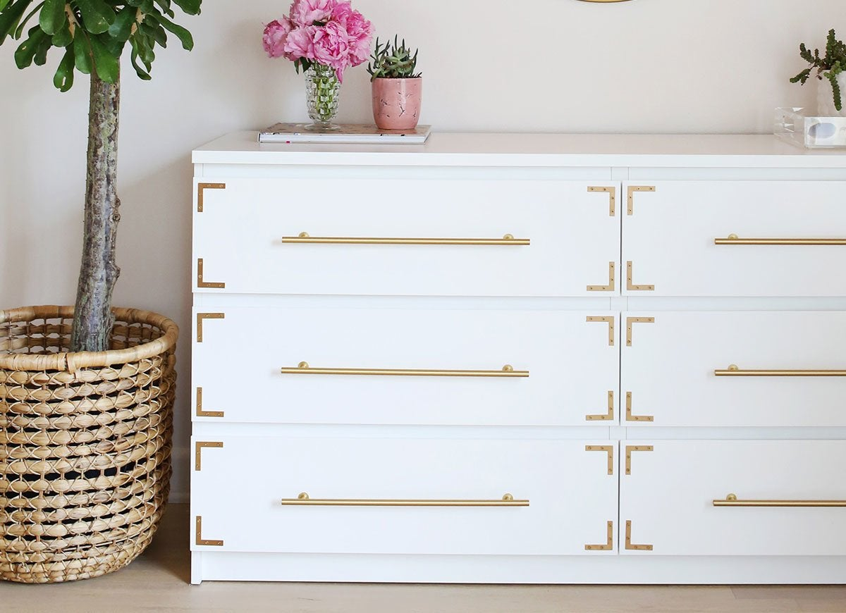 ikea dresser with metal accents ikea hacks the very