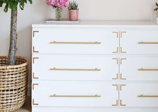 IKEA Dresser With Metal Accents