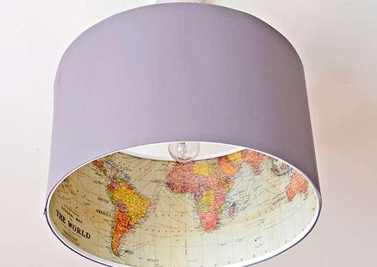 DIY Map Lamp