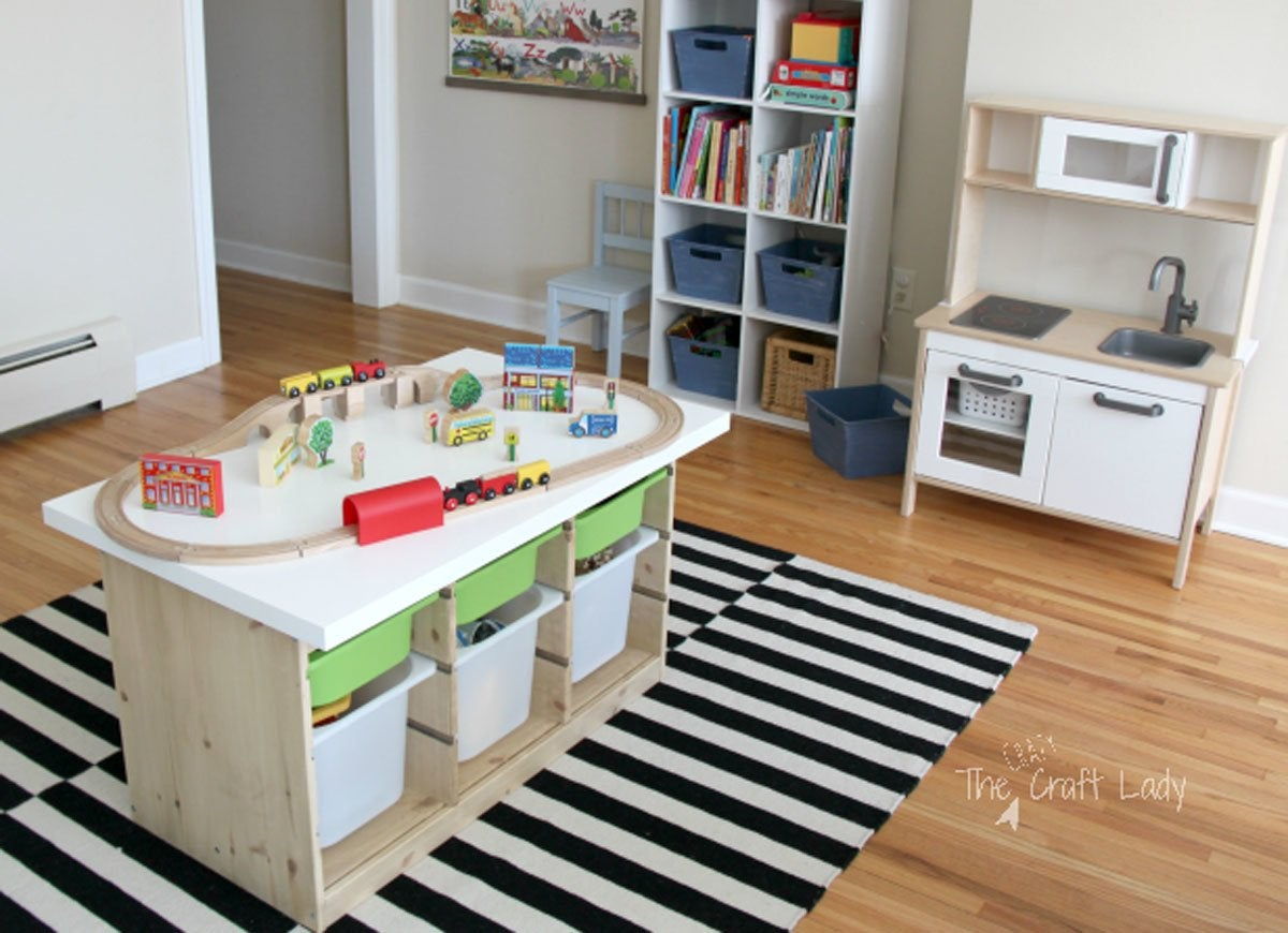 ikea hack playroom table ikea hacks the very best of. Black Bedroom Furniture Sets. Home Design Ideas