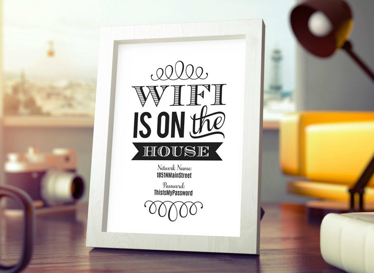 Wifi password printable from blisspaperboutique on etsy