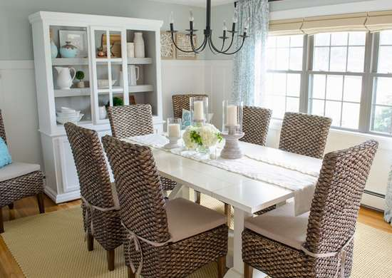 Coastal dining room makeover