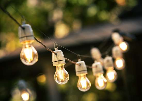 Hanging Lights in Yard