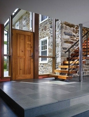 Wyantarchitecture pa farmhouse addition front entry inside 05 1