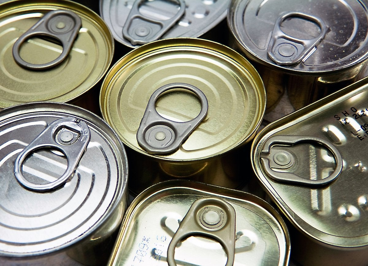 Expired food tins