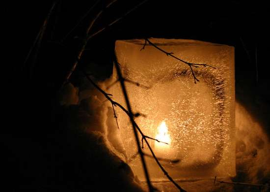 DIY Ice Luminaries