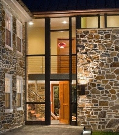 Wyantarchitect pa farmhouse addition front entry rev