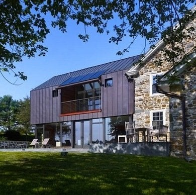 Wyantarchitecture pa farmhouse addition copper roof