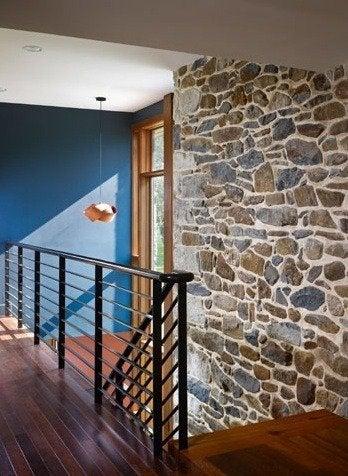 Wyantarchitecture pa farmhouse stone walls palm wood floors