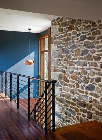 Wyantarchitecture pa farmhouse stone walls palm wood floors
