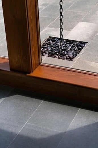 Wyantarchitecture pa farmhouse japanese rain chain