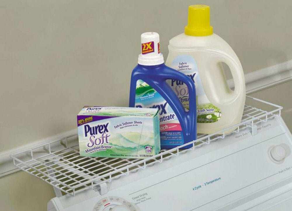 Over the washer storage shelf