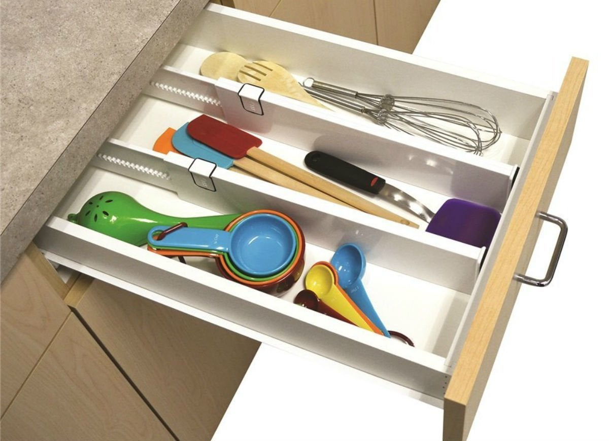 Kitchen clutter  drawer dividers