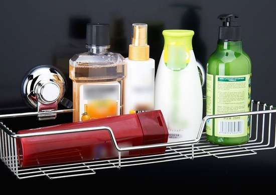 Suction cup shelf