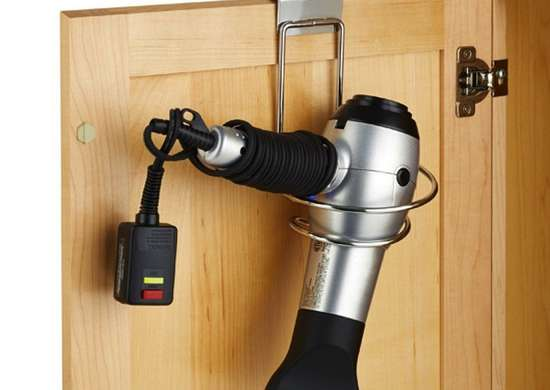 Cabinet Door Hair Dryer